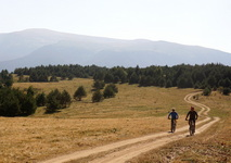 biking in govedartsi village, rila mountain