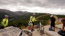 mounain biking in Rila, bulgaria