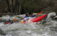white water kayaking in Bulgaria, Struma river